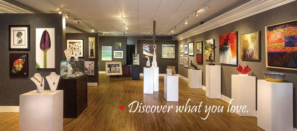 Inside the Art Uptown Gallery in Sarasota