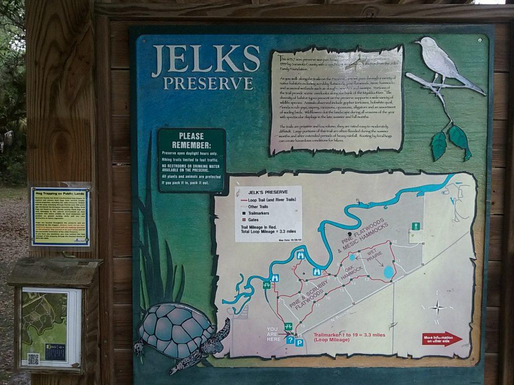 Jelks Preserve map in Venice, FL