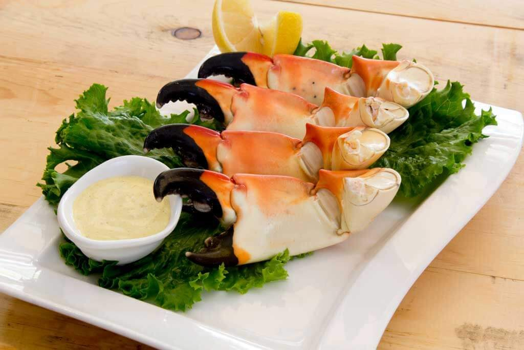 Stone crab from Harrys Continental Kitchen in Longboat Key